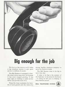 Bell Telephone vintage advert