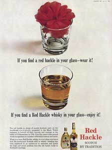 retro Red Hackle whisky ad