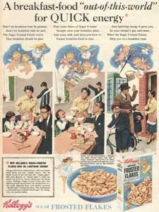 1955 Kellogg's Frosted Flakes - vintage ad