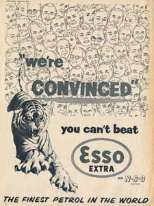 retro esso petrol advert