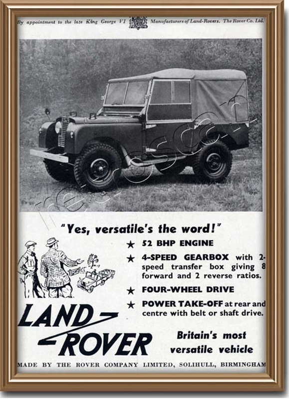 1952 Land Rover - Vintage Ad