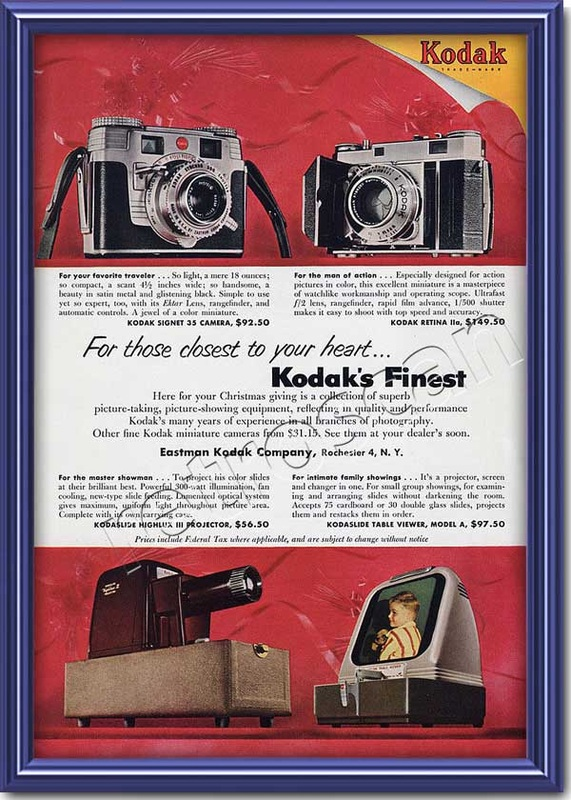 1953 vintage Kodak  advert
