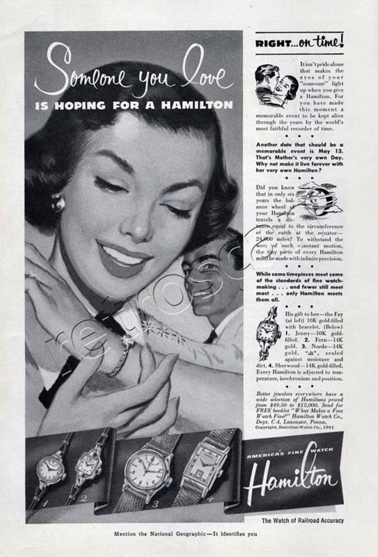 1951 Hamilton Watches vintage ad