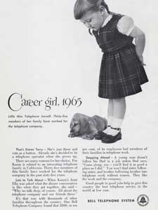 1951 Bell Telephone Career Girl - vintage ad