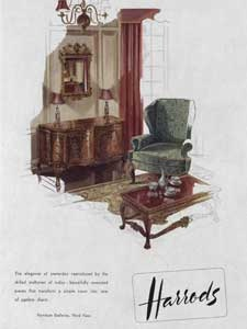 1952 Harrods Furniture Galleries