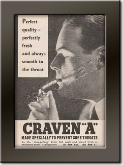 vintage 1937 Craven A Cigarettes advert