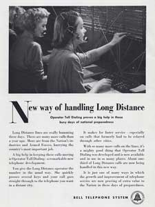 1951 Bell Telephone ad
