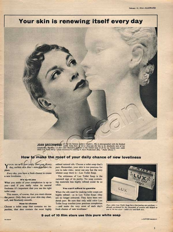 1954 Lux Toilet Soap - Joan Greenwood vintage ad