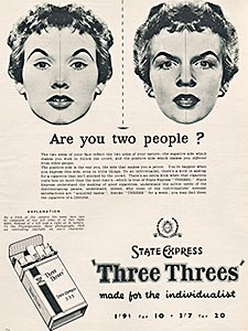 1955 Three Threes  - vintage ad