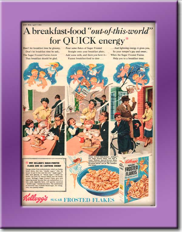 1955 vintage Kellogg's Frosted Flakes