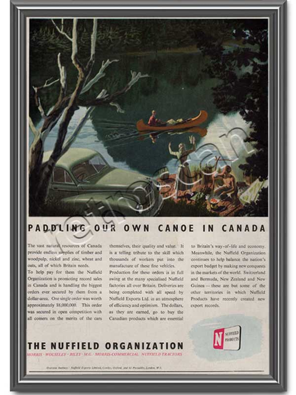 1950 The Nuffield Organization - framed preview