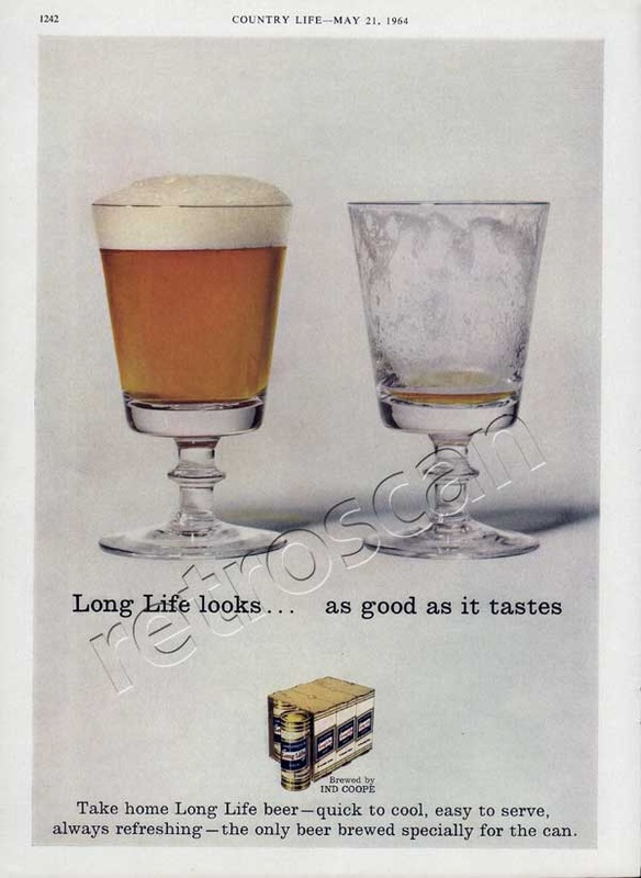 1964 Long Life Beer vintage ad