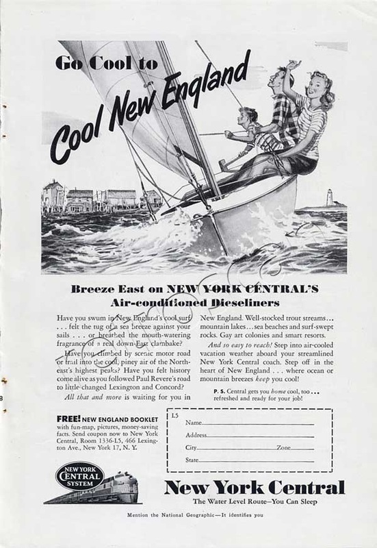 New York Central New England vintage ad