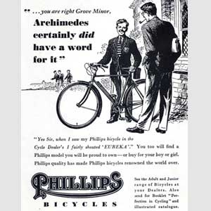 1952 Phillips Bicycles (Archimedes)  - Vintage Ad