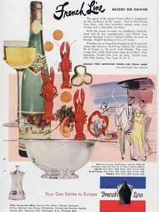 1953 French Line Cruises  Cuisine