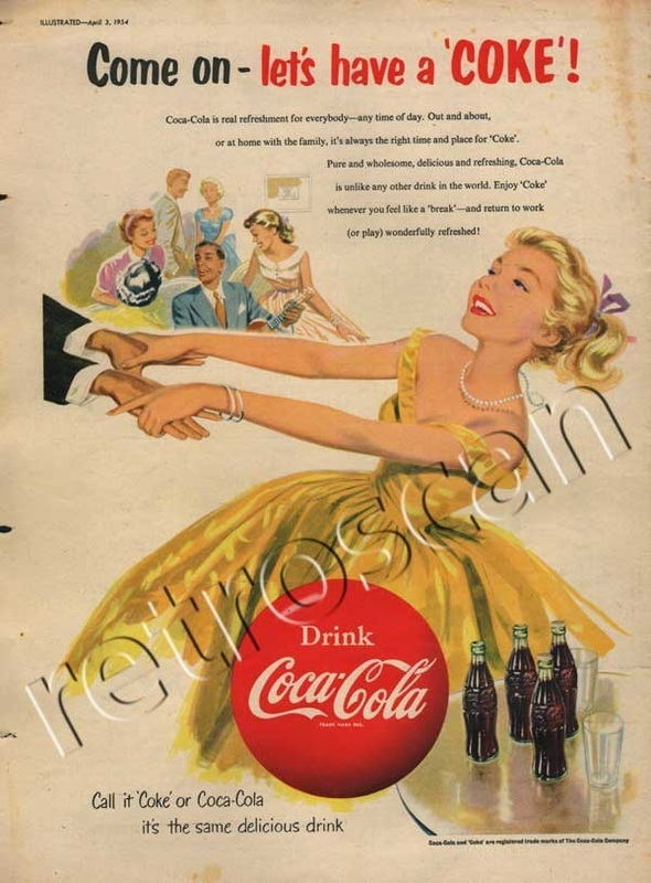 1954 Retro Coca Cola Advert