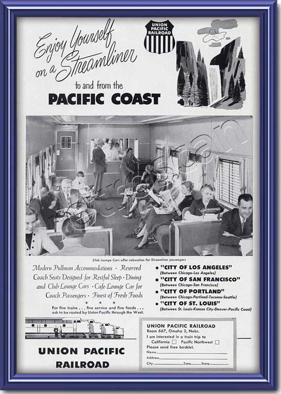 1953 vintage Union Pacific  advert