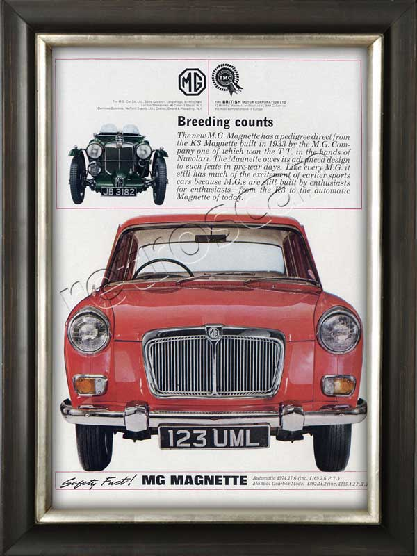 vintage 1964 MG Magnette Sports Car