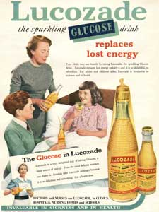 1954 Lucozade Girl in bed- vintage ad