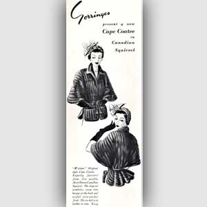 1950 Gorringes Furs