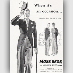 1952 Moss Bros - vintage ad