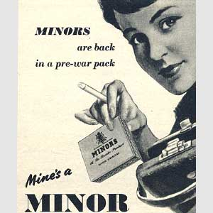 1953 Minor Cigarettes