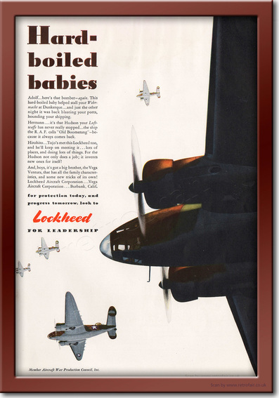 1942 Lockheed - framed preview retro