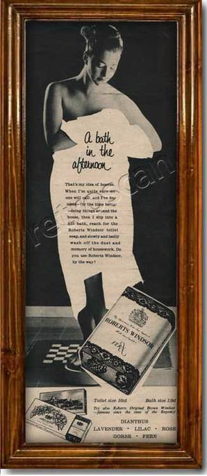 1955 vintage Roberts Windsor Toilet Soap  ad
