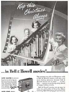 1950 Bell & Howell christmas ad
