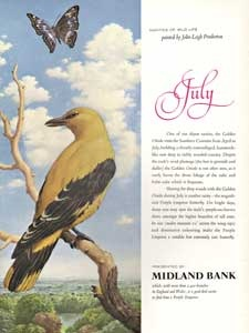 1964 Midland Bank July Birds
