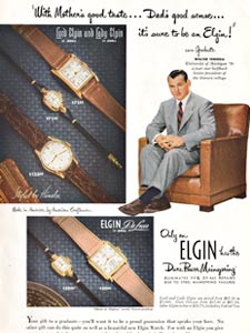 1950 Elgin watches ad