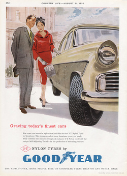 1958 Goodyear Tyres - unframed vintage ad
