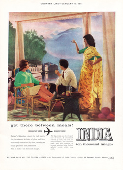 1961 India Tourism  - unframed vintage ad
