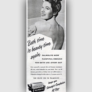 1950 Palmolive soap advert