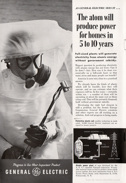 1954 General Electric - unframed vintage ad