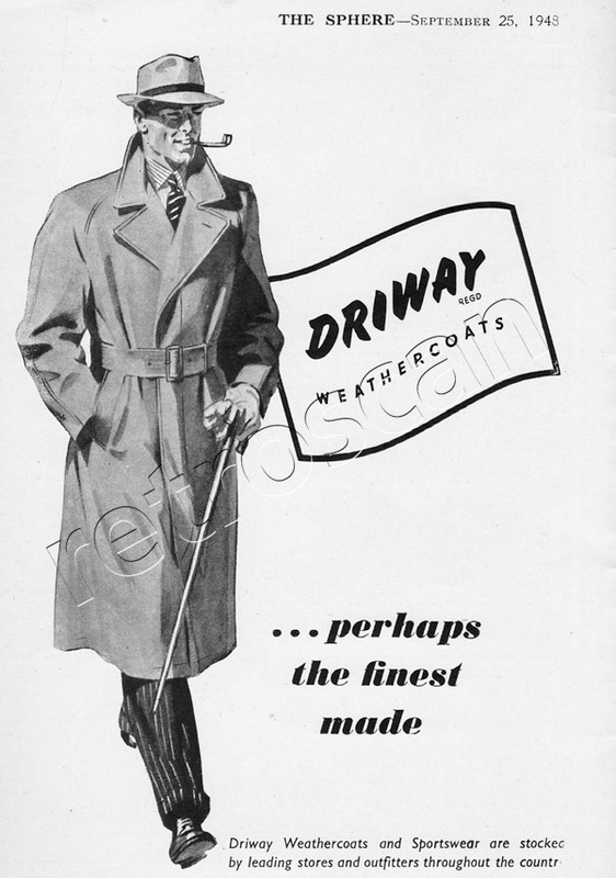 1953 Driway weathercoat ad