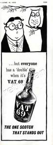 1961 VAT 69 Scotch Whisky ad