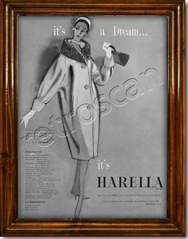 Retro Harella Fashion Advert