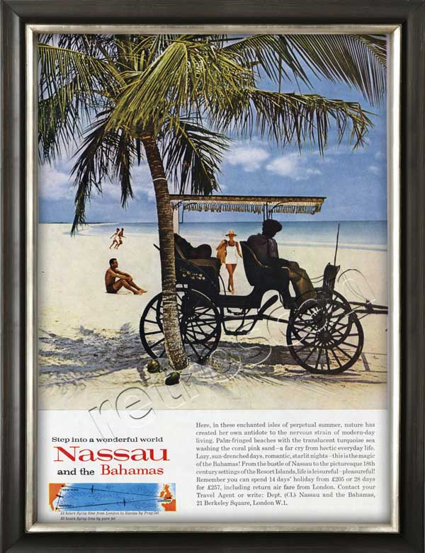 vintage 1962 Nassau and the Bahamas ad
