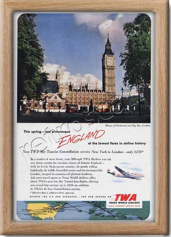 1952 TWA London  - framed preview