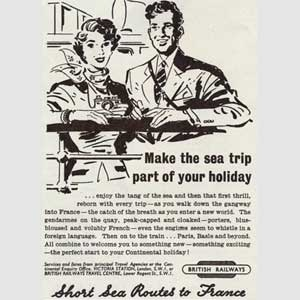 1952 British Rail / French Holidays - vintage