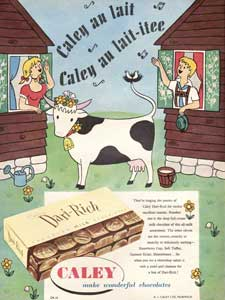 1954 Caley Dari-Rich Cow Sheds - vintage ad