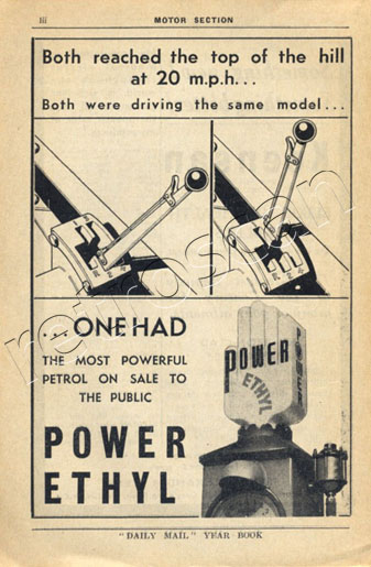 1936 Power Ethyl vintage ad