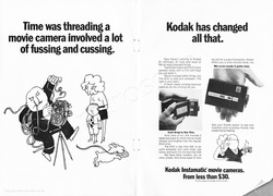 1969 Kodak Instamatic Movie Cameras - unframed vintage ad