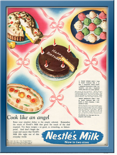 1955 Nestlé Milk retro ad