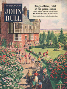 1954 May John Bull Magazine Cover Youth Hostel garden