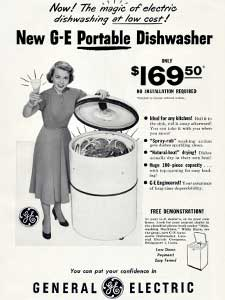 1950 General Electric dishwasher
