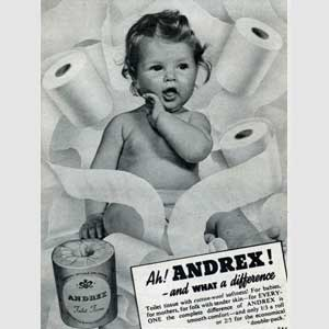 retro andrex baby advert