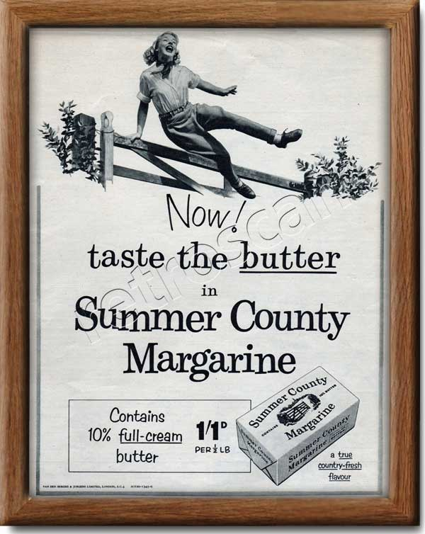 1955 vintage Summer County Margarine