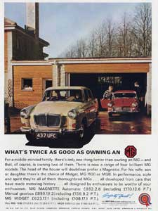 1965 MG advert